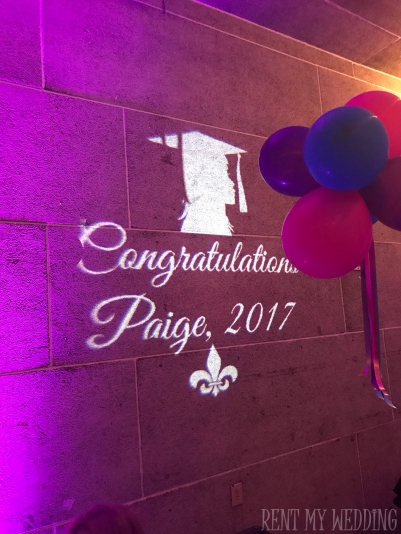 gobo - monogram - uplight - graduation